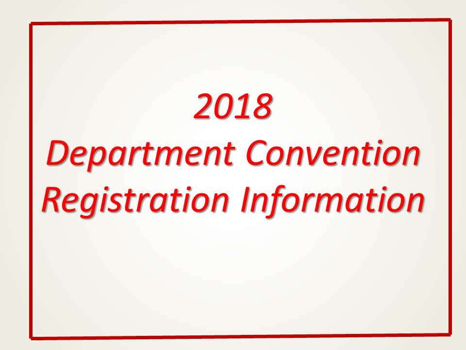 2018 Department Convention Information