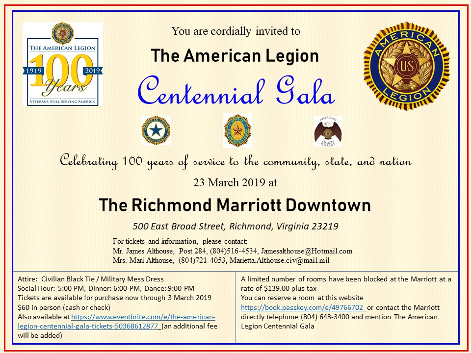 The AMerican Legion Centennial Gala