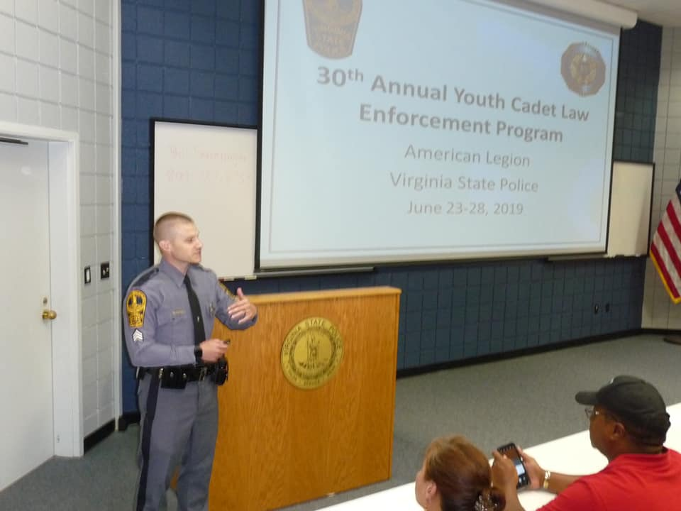 2019 Virginia Youth Cadet Law Enforcement Academy Completed